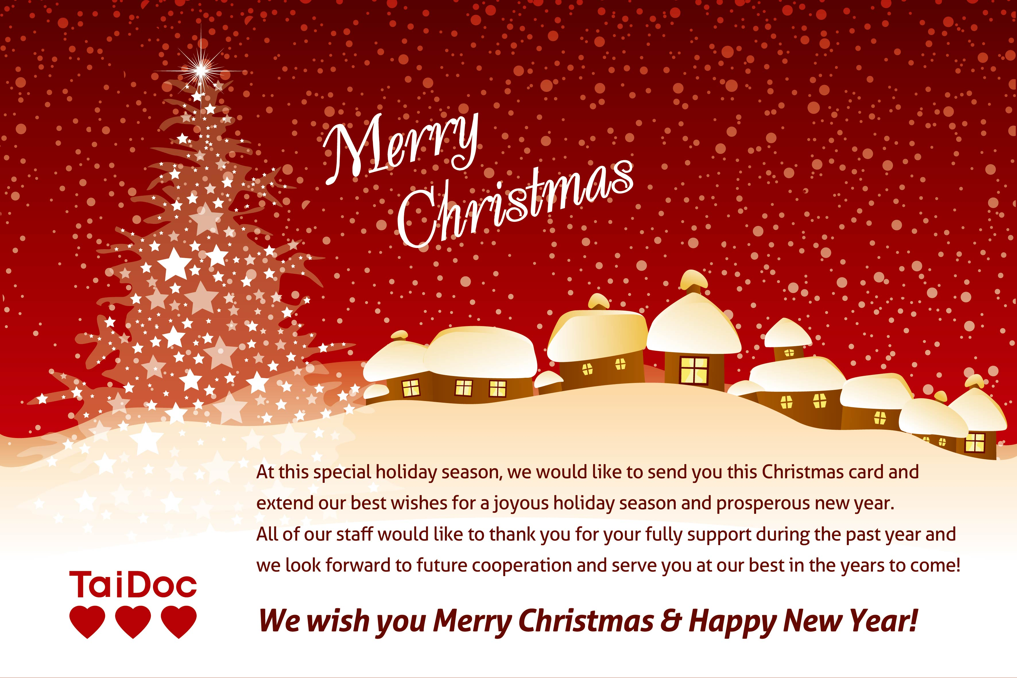 We Wish You A Merry Christmas A Happy New Year
