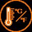 °C / °F convertible